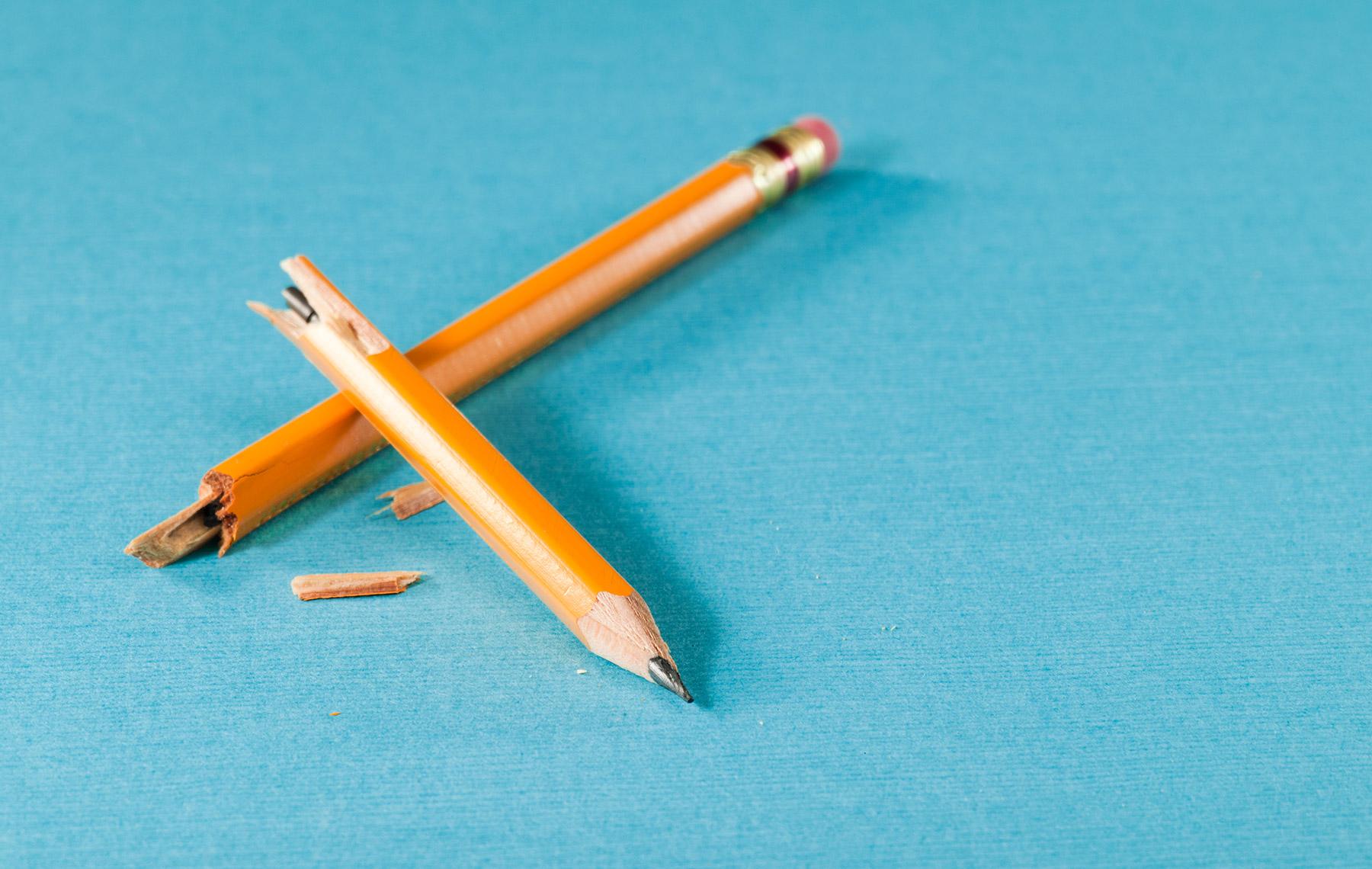 Boken pencil