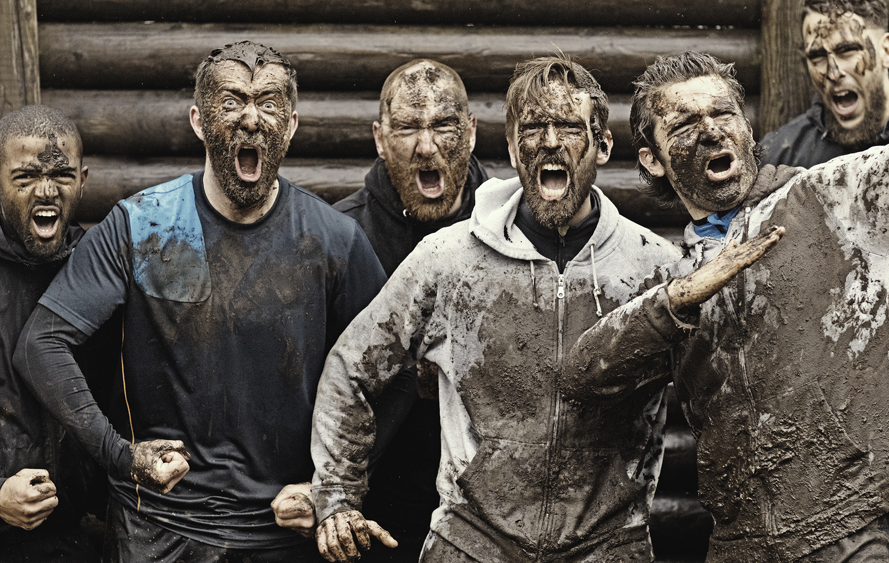 AltaMed men mud run