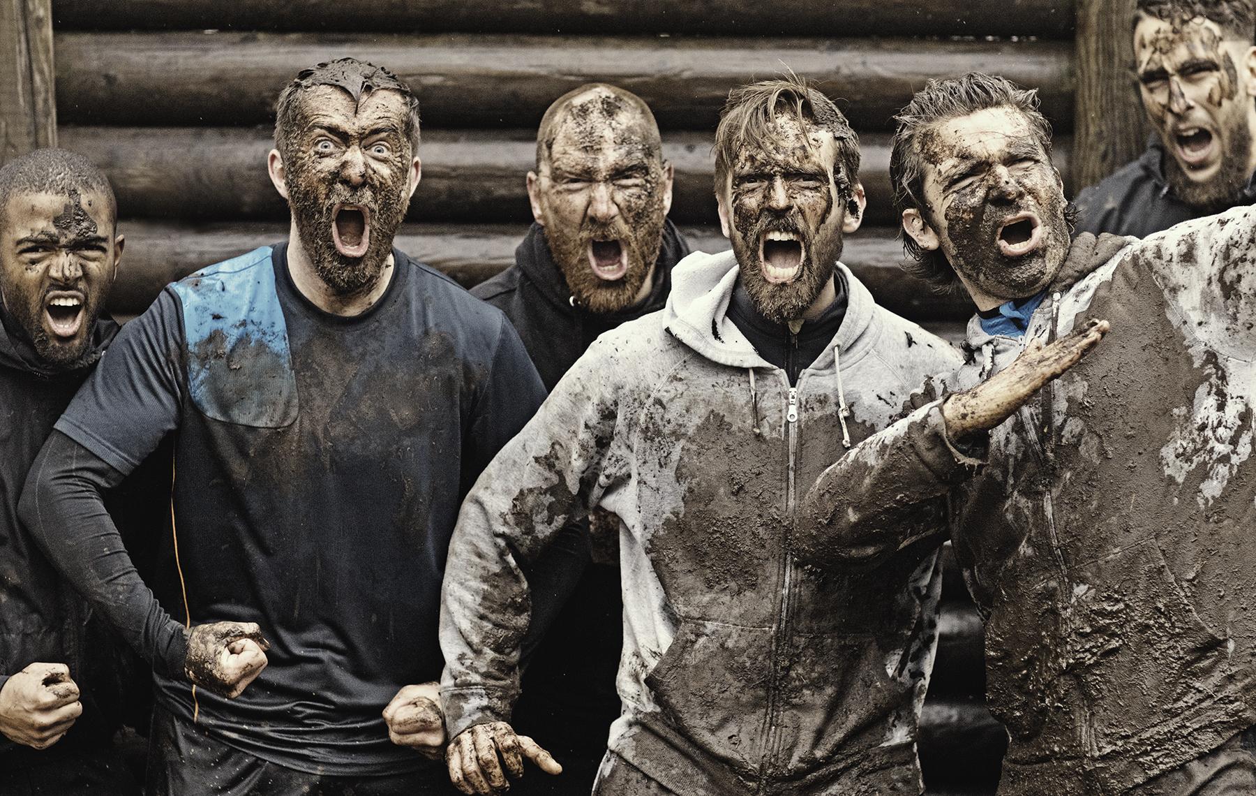 AltaMed men mud running