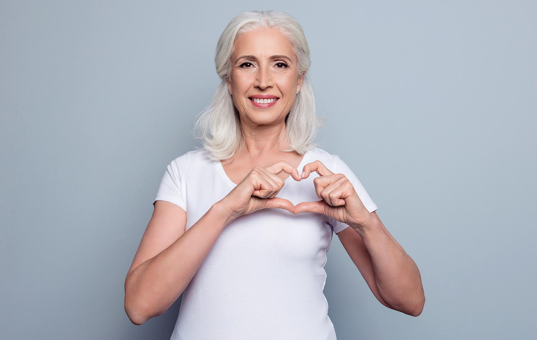 Woman heart signal