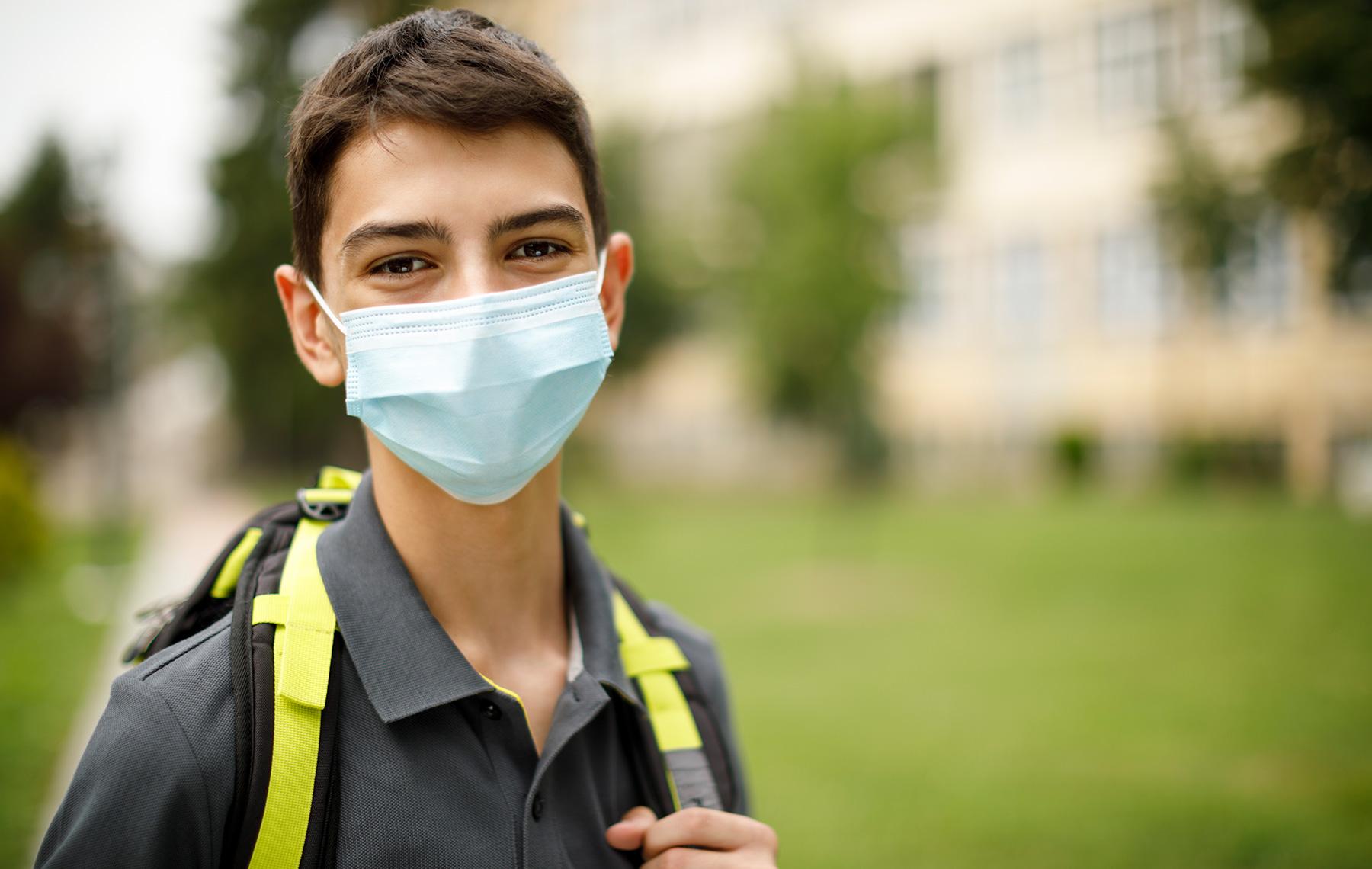 Boy with mask adolescen
