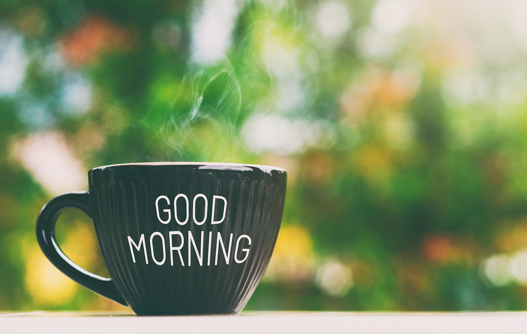 good morning greeting a cup of coffee-early bird vs night owl